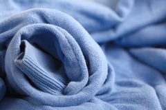 Texture blue wool sweater Royalty Free Stock Photo