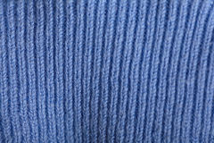 Texture  blue wool sweater Royalty Free Stock Photography