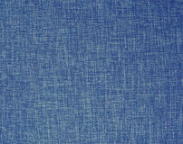 Texture of a blue woven synthetic fabric background Stock Photos