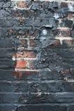 Texture brûlée 2 de mur de briques Image libre de droits