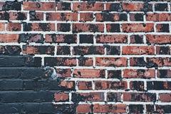 Texture brûlée de mur de briques Photos libres de droits