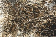 Texture brûlée de papier d'aluminium photos libres de droits