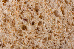 Texture of bread. Macro detail of fresh bread Royalty Free Stock Image