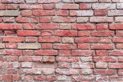 Texture. Brick. It can be used as a background. Brick texture with scratches and cracks stock image