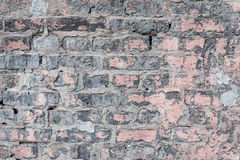 Texture. Brick. It can be used as a background. Brick texture with scratches and cracks stock images