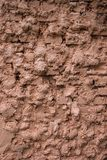 Texture of a brick fence wall royalty free stock photo