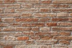 Texture of brick's masonry. Irregular texture of red bricks Stock Image