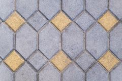 Texture of brick stone pattern floor close up stock image