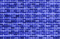 Texture brick wall for background dark blue horizontal vector illustration