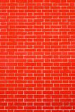 Texture brick wall bright red color Stock Image
