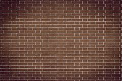 Texture brick wall of brown color Royalty Free Stock Photos