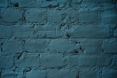 Texture of brick wall covered with blue paint Royalty Free Stock Images