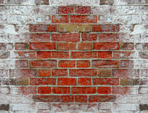 Texture from brick wall covered with salt Stock Photo