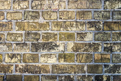 Texture brick wall dirty texture. Yellow brick wall background vintage city urban Royalty Free Stock Photos