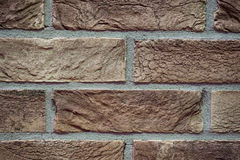 Texture brick wall made of light beige Royalty Free Stock Photo