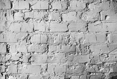 Texture of a brick wall. brickwork with cement seams of white color Royalty Free Stock Images