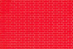 Texture brick wall of red color Royalty Free Stock Photos