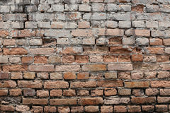 Texture brick wall is weathered and have corrosive. Stock Photo