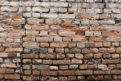 Texture brick wall is weathered and have corrosive. Stock Photography