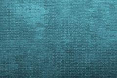 Texture of an bricklaying in dark azure tones Royalty Free Stock Photos