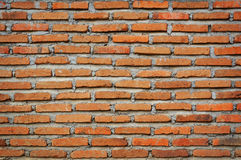 Texture of a red bricks wall. With cement Royalty Free Stock Photo
