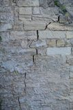 Texture. Brickwork with a crack. Vertical Royalty Free Stock Image