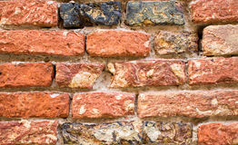 The texture of the brickwork Royalty Free Stock Photos