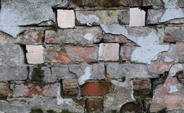 Texture of the brickwork. Texture of old shabby brickwork Stock Image
