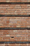 Texture brickwork. Texture of the old wall of red brick royalty free stock photos