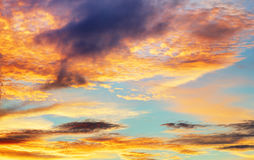 Texture of bright evening sky during sunset Royalty Free Stock Images