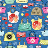 Texture of bright handbags Royalty Free Stock Photo