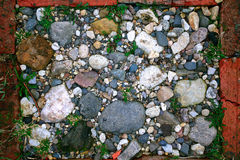 Texture of  bright pebbles cobbles stones Royalty Free Stock Images