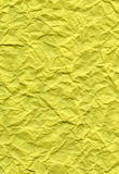 Bright Yellow Fiber Paper - Crumpled Royalty Free Stock Image