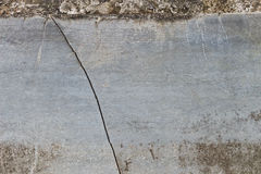 Crack at cement, grunge background  Stock Image
