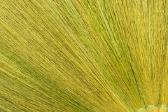 Texture of broom. With green and yellow for cleaning Stock Image