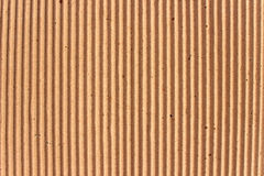 Texture of brown corrugate cardboard Stock Photos