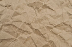 Texture of brown crumpled paper Stock Photo