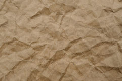 Texture of brown crumpled paper for background Royalty Free Stock Photography