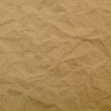 Texture of brown crumpled paper for background Stock Images
