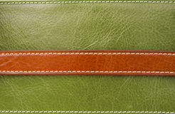 Texture of brown on green leather Stock Images