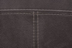 Texture brown leather Stock Photography