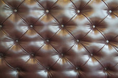 Texture of brown leather, indoor Stock Image