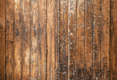 Texture of brown old wooden walls with scratches Stock Image