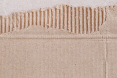Texture of the brown paper box or cardboard with torn. Royalty Free Stock Images