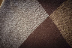 Texture brown plaid Stock Photos