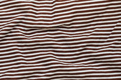Texture of Brown Striped Fabric. Royalty Free Stock Photography