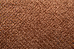 Texture of brown velvet fabric Stock Photos