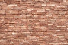 Texture brunâtre des carreaux de céramique collés à l'extérieur du bâtiment, couleur lumineuse Photographie stock