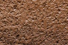 Texture brun chocolat crémeuse de mur Image libre de droits