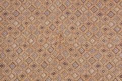 Texture brune abstraite de tissu avec l'art Images libres de droits